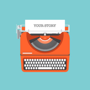 Share Your Story Flat Illustration